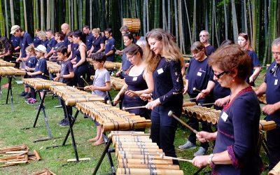 Les Pousses du Bamboo Orchestra en concert